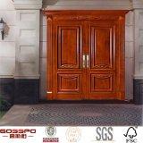 クルミの旧式な二重内部の外部の固体木のドア(GSP1-019)
