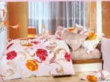 Het kleurrijke Vastgestelde Beddegoed van het Blad van het Bed van Microfiber van het Bamboe van het Patroon van de Bloem dat voor Huis wordt geplaatst