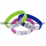 Wristband por atacado do silicone do estiramento com Thb-056