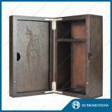 Cadre en bois supérieur personnalisé pour la bouteille de boisson alcoolisée (HJPWSB01)