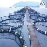 Jaula de los pescados de la abrazadera de la montura de la instalación de tuberías del HDPE