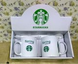 ロゴの印刷を用いる卸し売り12oz白く新しい骨灰磁器のコーヒー・マグ