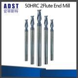 50HRC CNC 2flute 텅스텐 강철 끝 선반