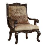 木フレームが付いている居間のソファの骨董品ファブリックLoveseatのアメリカの椅子