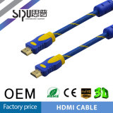 Sipu 고품질 24k 1.4V 19p 금 색칠 HDMI 케이블