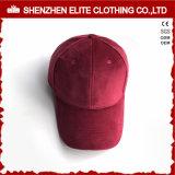 卸し売りカスタム方法帽子6のパネルのビロードの野球帽(ELTBCI-19)