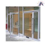 Usine en verre en aluminium de porte de tissu pour rideaux de qualité double