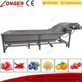 Machine à laver industrielle de fruits et légumes d'acier inoxydable