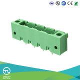 Support droit de panneau de bride avec des cosses de soudure avec le trou pour le connecteur de fil