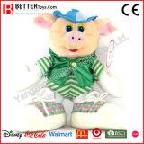 Beau porc mou neuf de jouet dans le chapeau