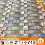Mármol cuadrado y mosaico de vidrio de curvatura para la pared de la cocina (M855041)