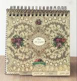 Изготовленный на заказ спиральн блокнот печатание календара