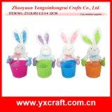 Promoción determinada de Pascua de la decoración del item de la botella del conejo de Pascua del tarro de las liebres de Pascua de la decoración de Pascua (ZY15Y359-1-2-3)