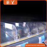 Séparateurs d'étagère pour le diviseur en plastique de plateau de supermarché