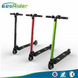 2017 heißer zwei kleiner Kohlenstoff-Faser-faltbarer elektrischer Roller-elektrisches Fahrrad Ebike des Rad-350W