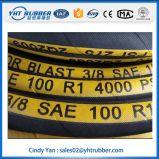 Une couche de boyaux en caoutchouc tressés de fil avec des logos