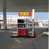 L'erogatore del combustibile con un'affissione a cristalli liquidi dei due Ugelli-Quattro Video-Due i contatori