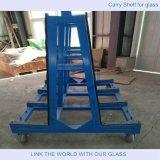 GlasShelf/L Form-Stahlregal ein Form-Stahlregal/GlasTranfer Regal mit Stahl