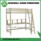 Sólido cama de madera de pino niños Loft con diapositivas