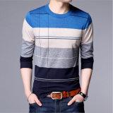 Jeune chemise de base de Knit de bloc de couleur de type de la Corée de longue chemise