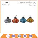 Lâmpada de petróleo de vidro colorida da venda quente com feltro de lubrificação