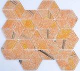 Mosaico del vidrio del azulejo 3D de la pared de la cocina y del cuarto de baño