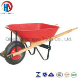Wheelbarrow grande com a bandeja de madeira do punho e do metal (WB5400)