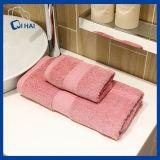 Tovagliolo del bagno tinto filato del solido di 100% (QHD887112)