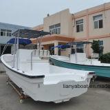 Barcos de pesca do anúncio publicitário do barco de trabalho da fibra de vidro 90HP de Liya 7.6m