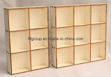 Rectángulo de petróleo esencial del almacenaje de madera sólida