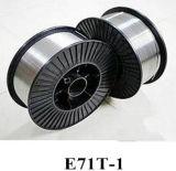Fio de soldadura retirado o núcleo do aço de baixo carbono e do aço E71t-1 da classe 490MPa fluxo de grande resistência