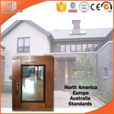 Guichet personnalisé de tissu pour rideaux en bois solide de taille, guichet en aluminium de tente d'interruption thermique plaquée en bois solide
