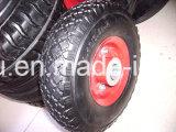 Puder-überzogene Stahlfelgen-festes Gummi PU-Schaumgummi-Rad