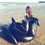 Il PVC gonfiabile della spiaggia della sosta dell'acqua della piscina di Finego fa galleggiare il cigno nero bianco di Gloden
