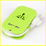 형식 2 USB 전기 소켓을%s 가진 녹색 소형 힘 지구