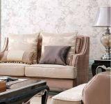 木フレーム及び古典的なソファーが付いているアメリカの旧式なソファーセットは居間のためにセットした