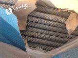 corda galvanizzata 6*7+Iwrc del filo di acciaio per l'elevatore