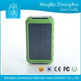 La migliore Banca doppia impermeabile all'ingrosso di vendita 10000mAh, caricatore portatile di energia solare del USB della Banca di potere con l'indicatore di potere