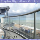 Ясная кислота вытравила изогнутое Toughened стекло для балюстрады /Pool балкона