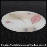 Coaster de vidro temperado em vidro de padrão Nashiji