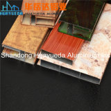 알루미늄 나무로 되는 이동 Windows와 문을%s 알루미늄 밀어남 단면도
