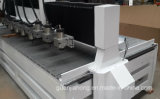 Macchina a mandrini multipli di plastica acrilica di pietra di legno del router di CNC Dt1813-10