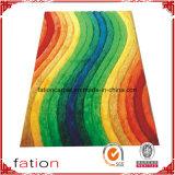 Il Rainbow colora la moquette lanuginosa 100% del poliestere della camera da letto di modo