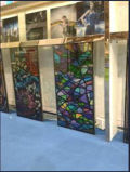 Por atacado para o vidro manchado chinês laminado colorido decorativo