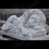 大理石の石造りの花こう岩の動物の彫像のMetrixカラーラのライオンMa1000