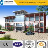 Bello commercio della struttura d'acciaio/edificio per uffici con la parete divisoria di vetro