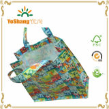 PVC all'ingrosso Coated Cotton Shopping Bag con Full Color Custom Printed Logo