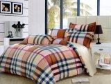 Conjunto de lino 100% de la hoja de base de la raya del lecho de la materia textil del hotel del algodón de la alta calidad