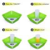 Escala de la cocina de Digitaces con la escala de la fruta de la dieta del tazón de fuente