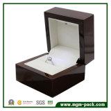 Caixa de jóia quente do diodo emissor de luz da madeira contínua da venda